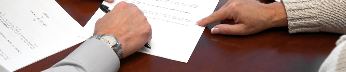 agreeing on a document during conveyancing services while selling house